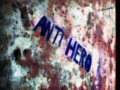 A Plague of Anti-Heroes (Steve Taylor (Photography)) Tags: blue newzealand christchurch streetart concrete graffiti stencil pillar canterbury fungus nz southisland column mould plague newbrighton antihero impressedbeauty flickrdiamond microrobes