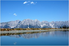 Hohe Salve See (Teresa (be there...)) Tags: mountain reflection water austria see tirol österreich surface cumulus kaiser alpen spiegelung tyrol wilder salve hohe gebirge kufstein apls kitzbühel massiv