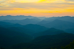 Wesser Sunset 2 (Bradley Nash Burgess) Tags: sunset mountain mountains evening nc nikon dusk hiking northcarolina hike trail nantahala firetower westernnc westernnorthcarolina appalachain nantahalagorge appalachaintrail wesser at wesserbald d7000 nikond7000