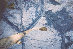 Stone wall lamp post (felixsanch) Tags: experimental doubleexposure budapest splittoning fujix100s