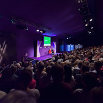 Sandi Toksvig and audience