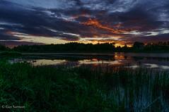 Presque nuit / Almost night (guysamsonphoto) Tags: sunset clouds river rivière nuages reflexions coucherdesoleil victoriaville victo rivièreduquébec guysamson réservoirbeaudet rivièrebulstrode sonynex6 adobelightroom5 sony1650mmoss