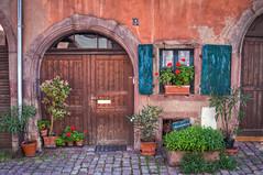 Riquewihr / Doors And Windows #1 (svenpetersen1965) Tags: door flowers window decoration alsace hdr midieval riquewihr 3px reichenweier
