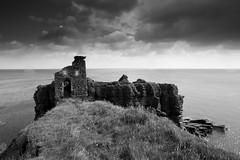 Nobody's Home, Bucholie Castle, Near Freswick, Caithness, Scotland (iainmac2) Tags: uk summer sky cloud seascape castle beach water silhouette clouds coast scotland highlands scottish cliffs 1735mmf28d cloudscapes seacliffs caithness 1735mm d700 nikond700 nikon1735mmf28 nikon1735mmzoom bucholie