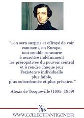 219-Tocqueville-Precaire-Pouvoir-Central (CollectifAntigone) Tags: vide antigone collectif libéralisme
