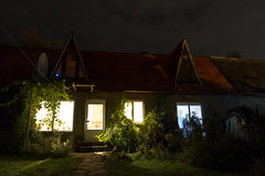 (linasamoukova) Tags: windows roof summer sky plants house building tree home nature night clouds lights evening vines russia sochi perseidmeteorshower 2013