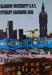 1986 (University of Glasgow Library) Tags: city pink blue red panorama green rooftop landscape student view rooftops kitsch pop colourful ki src glasgowuniversity studentlife handbooks guas archiveservices guarchives