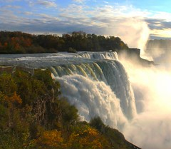 Autumn in Niagara Falls (William Wilson 1974) Tags: autumn trees red orange color tree fall nature water colors leaves yellow forest landscape niagarafalls leaf buffalo pretty foliage waterfalls westernnewyork wny