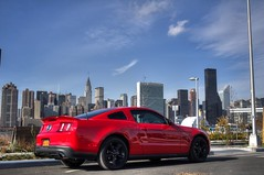 IMG_1335_6_7_tonemapped (*KNGOFQNS*) Tags: red ny newyork car mustang gt 50 v8 mustanggt