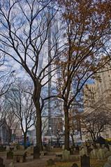 St Paul's Cemetary & Freedom Tower (london.paul82) Tags: newyork cemetery pentax stpaulschurch kx freedomtower