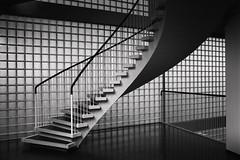 Space, Form and Light, Study I (Vesa Pihanurmi) Tags: blackandwhite window monochrome lines architecture stairs helsinki geometry interior curves modernism surface staircase banisters porthania