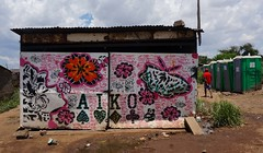 Lady Aiko Kliptown (Mr Baggins) Tags: streetart graffiti stencilart soweto kliptown ladyaiko