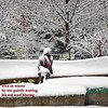 Snowy Sculpture Haiku (Don Iannone) Tags: winter snow haiku imagepoetry sculptureuniversitycirclecleveland