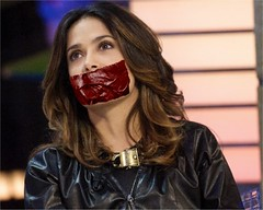 salma tapegag (Dexter_leather81) Tags: leather fake gagged salmahayek tapegag