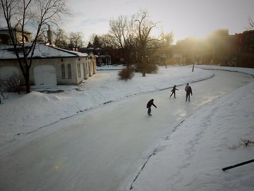 Patinage dans la ville, Montréal, Québec