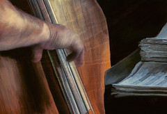 Bass Solo (Terry Pellmar) Tags: music texture bass digitalart jazz digitalpainting instrument mygearandme