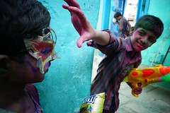 Holi 2014 (Hyderabad) - 50 (Rajesh_India) Tags: street india colour festival colorful traditions hyderabad holi