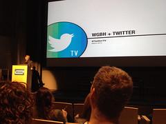 Twitter's @fredgraver speaking at WGBH