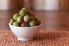 Ambrosia (SF knitter) Tags: newzealand stilllife fruit southisland wanaka plums greengage