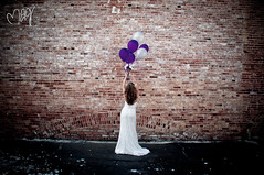 Come fly with me (Missie Ann) Tags: wedding white balloons bride purple lace curves bridal whitedress