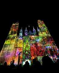 ktdral rouen (lolotamtam (llTT)) Tags: church nikon projection rouen lumiere nikkor cathedrale 1424mm