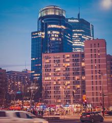 Warsaw Night Photo (CarbonRock(Finch)) Tags: warsaw warszawa 6d long exposure longexposure street sky sigma art samyang after blue hour