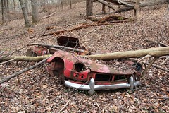 Abandoned 1962-1964 Triumph Spitfire Mark 1 (seventh_sense) Tags: daniels maryland ghost town ghosttown flooded abandoned ruins decay car automobile derelict deserted triumph spitfire convertible woods forest overgrown rust rusty rusted