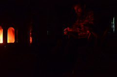 The wait (ruben garrido lopez) Tags: laponia laponiasueca lapland swedishlapland fuego chimenea fireplace chimney kiruna nikond5100 autoretrato selfportrait auroraboreal auroraborealis northernlights