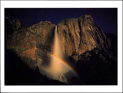 postcard - Yosemite Falls (Jassy-50) Tags: postcard yosemitenationalpark yosemite nationalpark park unescoworldheritagesite unescoworldheritage unesco worldheritagesite worldheritage whs mountain waterfall yosemitefalls upperyosemitefalls lunarrainbow moonbox rock