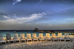 sunbeds (Neal J.Wilson) Tags: beach sand sunchairs sunbeds tropicalbeach maldives themaldives goldenhour light sky empty holi vacation valentines
