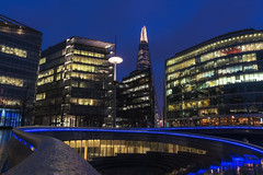 S In The Rain (JH Images.co.uk) Tags: london blue sky skyscrapers skyline night shard rain buildings hdr dri architecture