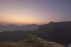 Katrabai and surrounding peaks of bhandardara drenched under warmth of the first light. First shot I clicked after getting out from my tent; solo night trek to Ratangad on my birthday, October 2015. Magical Sunrise! (Prabal Pandey) Tags: sahyadri maharashtra ratangad bhandardara mountains nasik igatpuri indianmountains westernghats tokina twilight sunrise