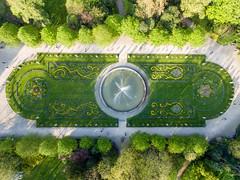 Springbrunnen der Flora Köln (Luftbild)