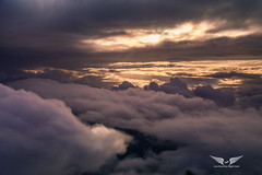 Sunset between the clouds (gc232) Tags: canon g7x clouds cloud cloudy sky sunset sunrise altitude aerial fly airplane view