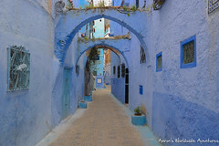 A street in Chefchaouen's Medina (adventurousness) Tags: bluecity chefchaouenthebluepearl thebluecity blue chaouen chefchaouen morocco travel