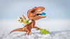 Egg Hunt on the Gulf of Bothnia (Reiterlied) Tags: 18 35mm bunny d500 dslr dino dinosaur easter egg fabuland lego legography lens nikon photography prime raptor reiterlied rex snow stuckinplastic trex toy tyrannosaur velociraptor