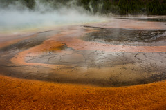 Grand Prismatic Spring in Yellowstone National Park, Wyoming, USA (vonHabsburg) Tags: unitedstates vereinigtestaaten usa america amerika nature natur landschaft landscape yellowstone yellowstonenationalpark yellowstonenp grandprismaticspring spring quelle orange dampf steam colourful farbenfroh wyoming