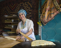 Making Traditional Turkish Flat Bread
