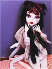Rawr! ♥ (Pliash) Tags: tall draculaura 17 cute kawaii monster high mh odangos style kigurumi miss starry hat missstarryhat plastic people