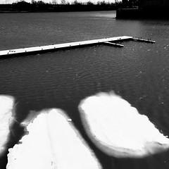 Je ne sais pas comment c'est arrivé... mais les nuages sont tombés dans l'eau... (woltarise) Tags: glace morceaux stlaurent fleuve montréal vieuxport