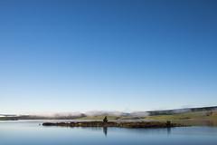 Lake Mahinerangi morning (Ian@NZFlickr) Tags: lake mahinerangi island morning mist autumn otago nz