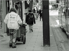 Don't Mess With Croydon (Mabacam) Tags: 2017 london croydon street streetscene cleaner streetcleaner uniform bin dontmesswithcroydon bw blackandwhite monochrome candid socialdocumentary environmental social