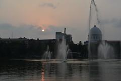 The city centre fountains (sanat_das) Tags: kolkata laldighi fountains afternoonsun citycentre generalpostoffice d800 50mm