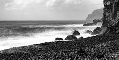 The wave (Rico the noob) Tags: dof landscape nature d500 70200mmf28 madeira stones clouds longexposure 2017 ocean published water sky bw sea outdoor blackandwhite 70200mm