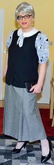 Ingrid024046 (ingrid_bach61) Tags: pleatedskirt faltenrock waistcoat weste blouse bluse mature