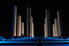 Elsewhere (Cathy_abd) Tags: lumière perspective danikaravan ricardobofill architecture anthique axemajeur valdoise cergy ile de france art arturbain green blue night colonnes landscape light cathyabd lesdouzecolonnes