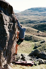 Wrynose Bouldering (MarcWalterPhotography) Tags: bouldering lakedistrict climbing pentaxmx pentax 50mm film filmphotography 35mm wrynosepass