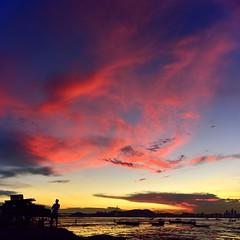 Afterglow, Lau Fau Shan, Hong Kong (jackyhui106) Tags: afterglow laufaushan hongkong twilight sunset landscape mudflat