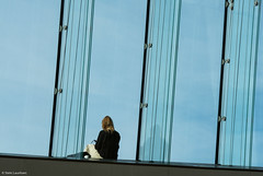 The girl outside (NikonStone (on and off)) Tags: nikon d7100 architecture glass windows outside blue oslo operahouse minimalism streetphoto urban