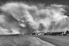 Musselburgh Beach - Before the rain (Ronan_C) Tags: beach clouds eastlothian musselburgh seaside sky sony2870mm sonya7mk2 sonya7m2 springshowers squall stormy